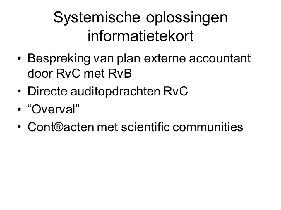 Systemische oplossingen informatietekort