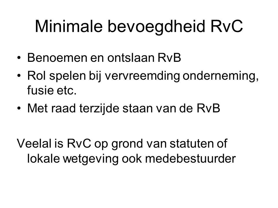 Minimale bevoegdheid RvC