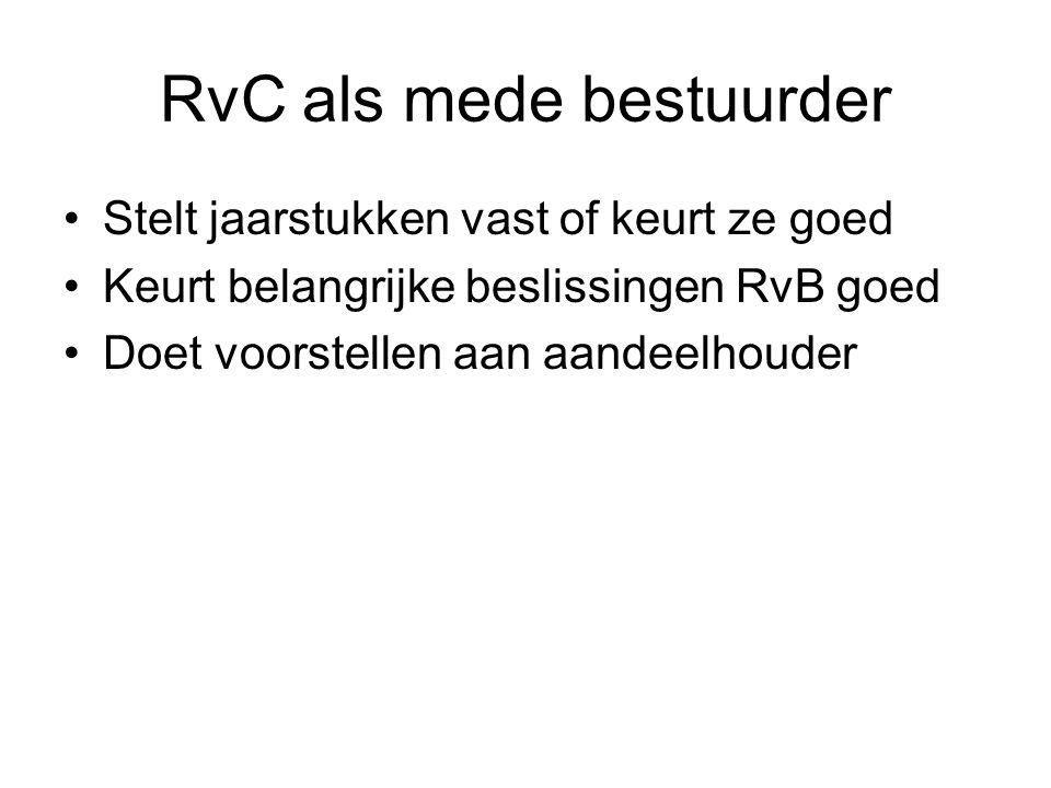 RvC als mede bestuurder