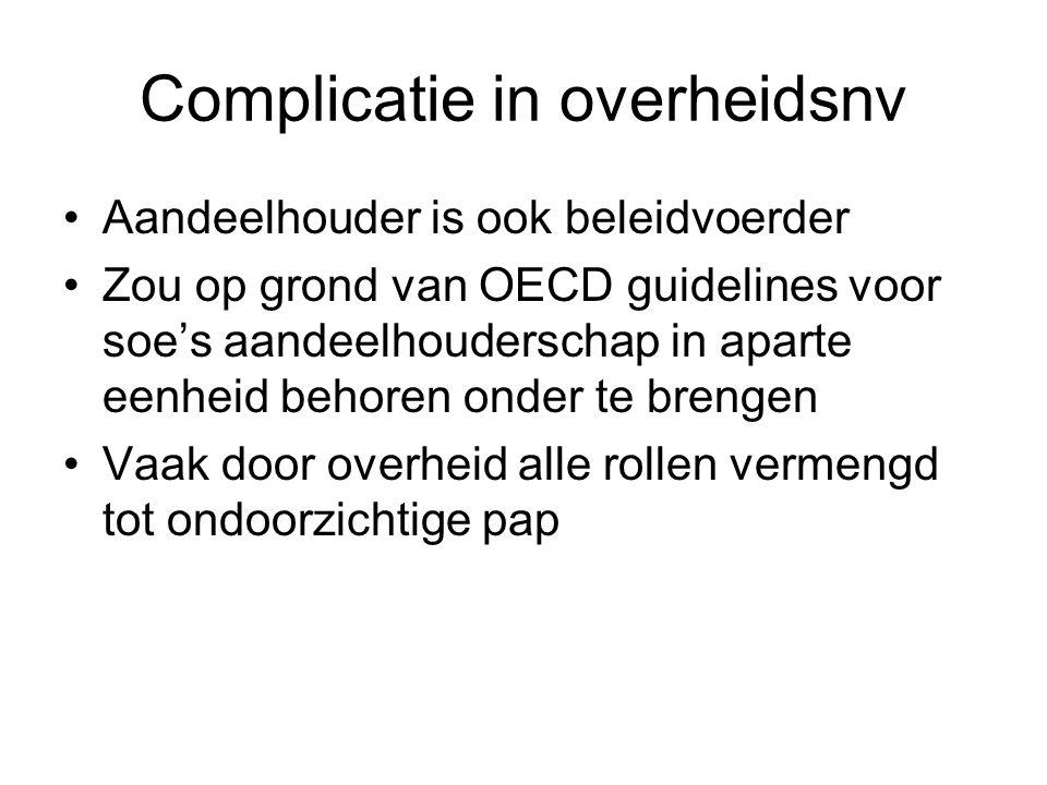 Complicatie in overheidsnv