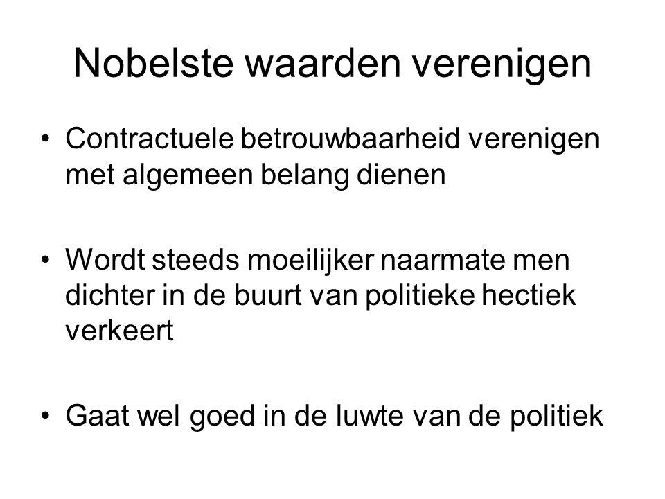 Nobelste waarden verenigen