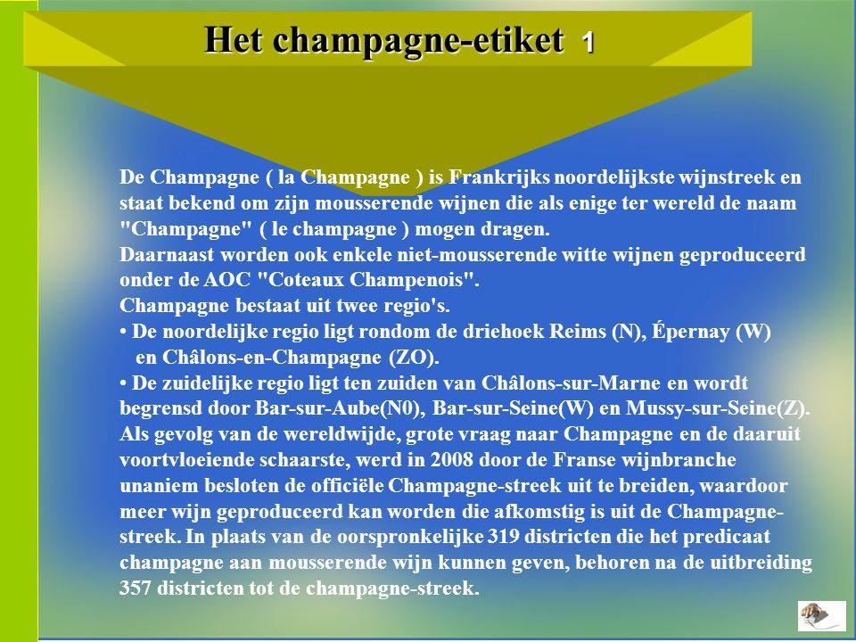 Het champagne-etiket 1