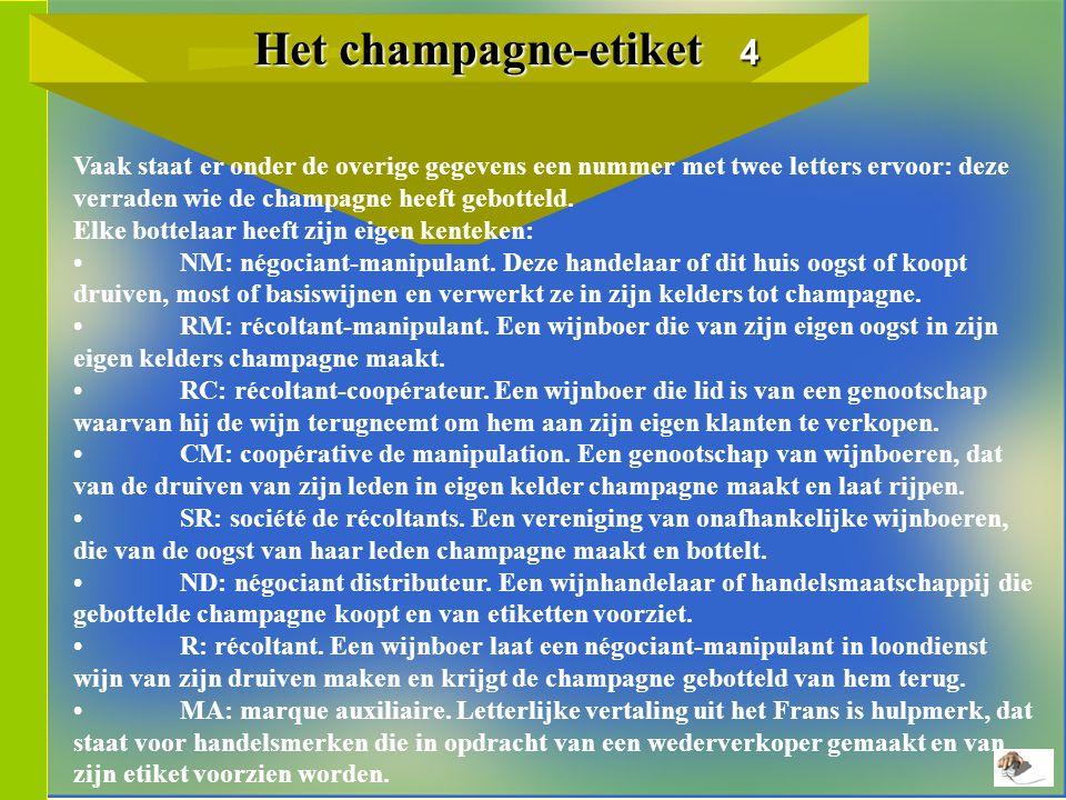 Het champagne-etiket 4