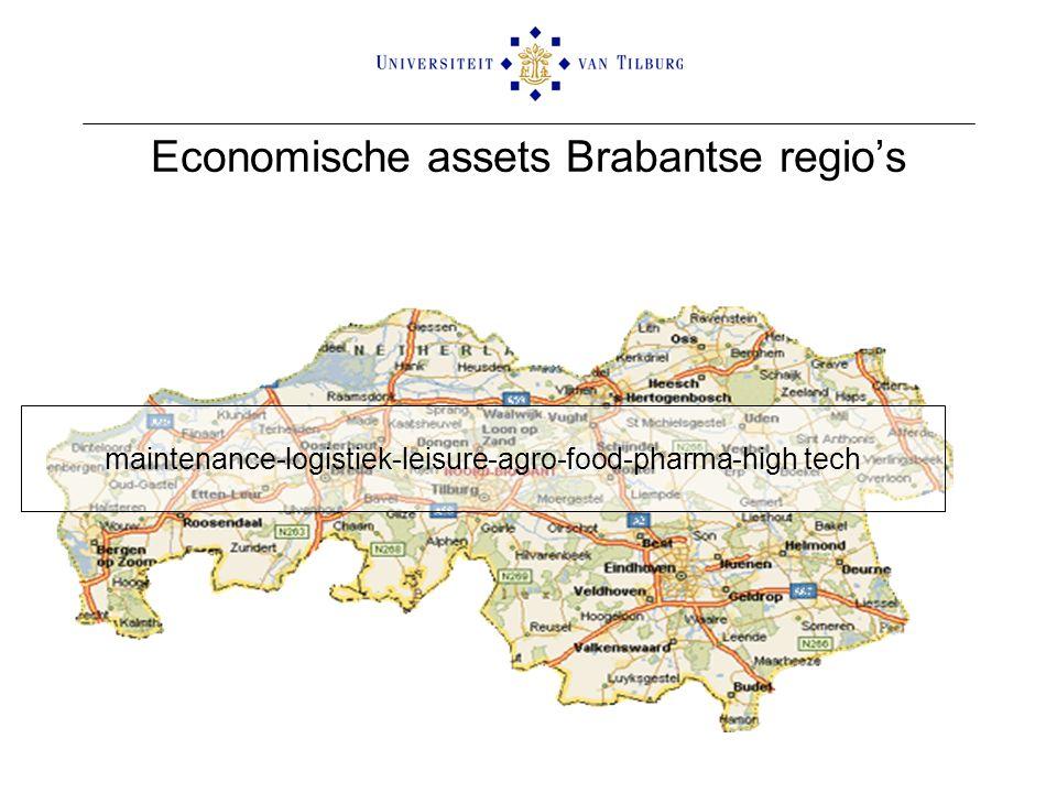 Economische assets Brabantse regio's