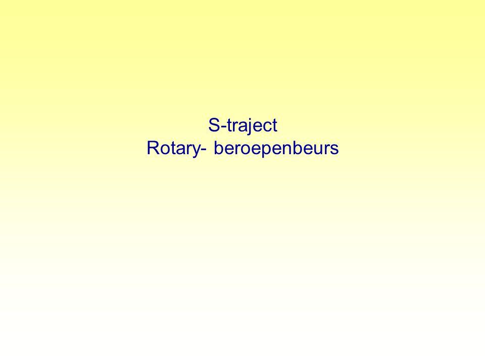 S-traject Rotary- beroepenbeurs