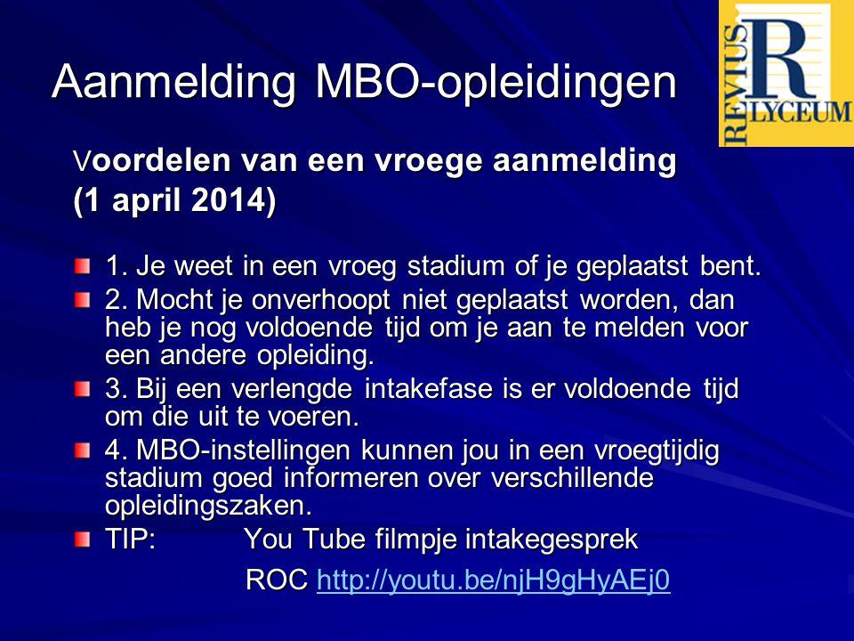 Aanmelding MBO-opleidingen