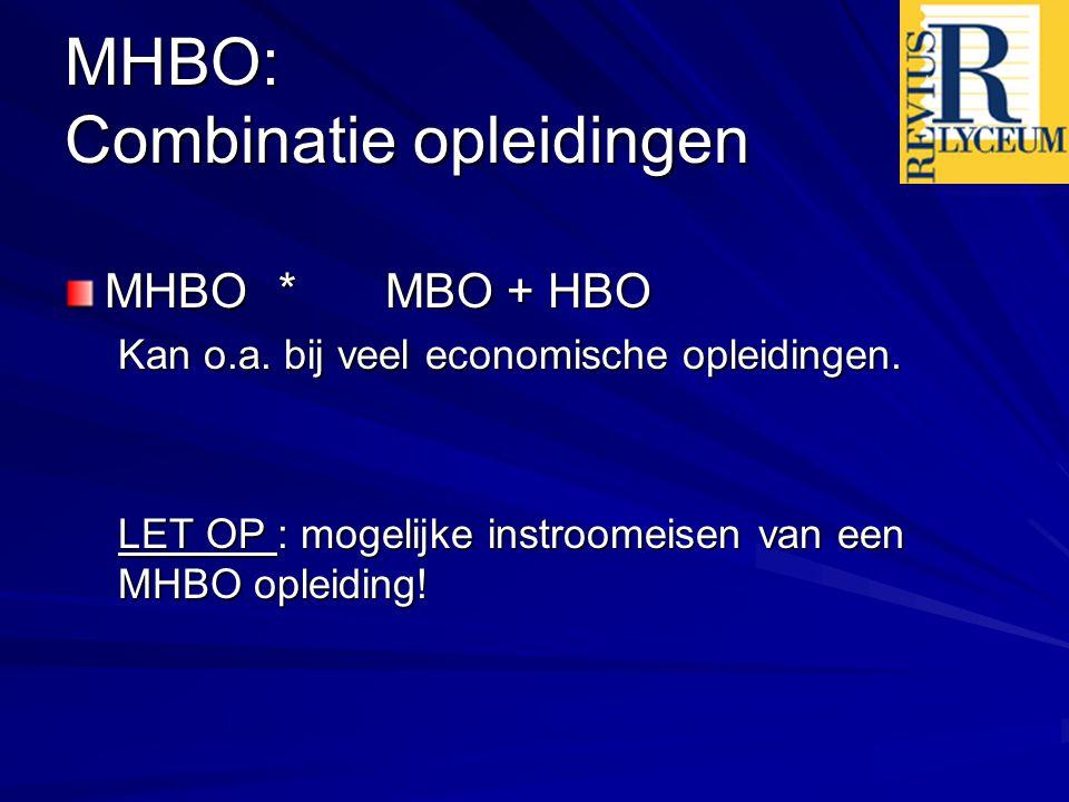 MHBO: Combinatie opleidingen