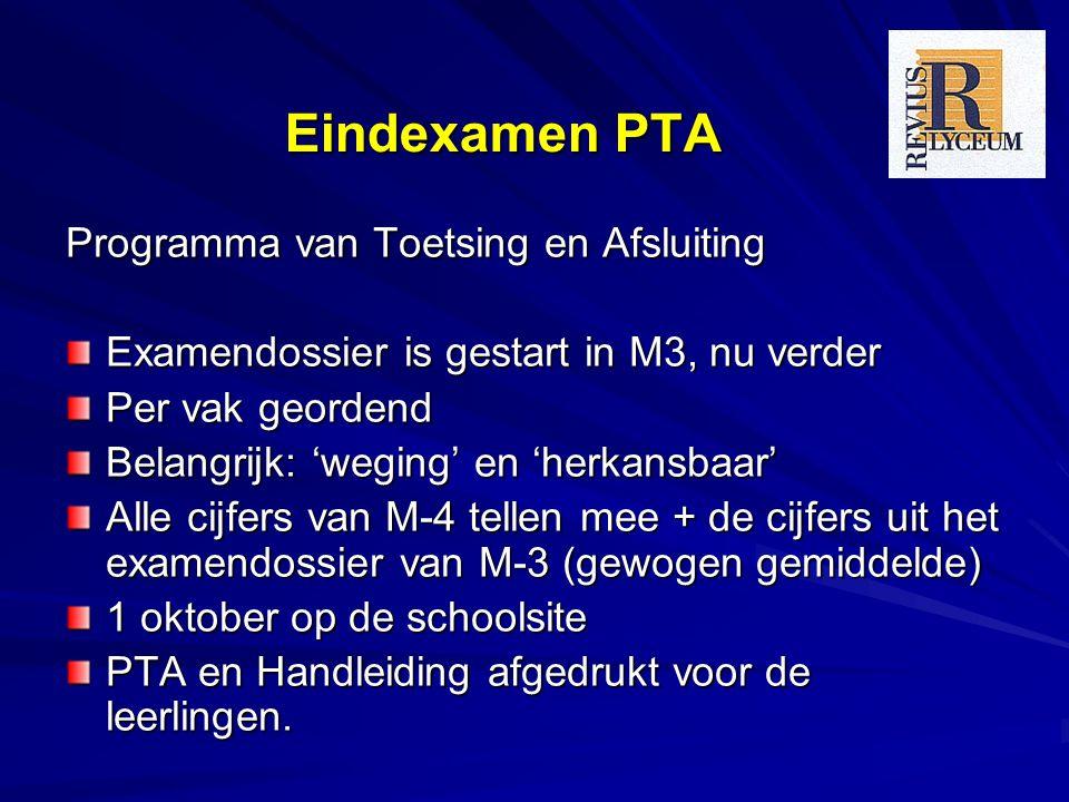 Eindexamen PTA Programma van Toetsing en Afsluiting