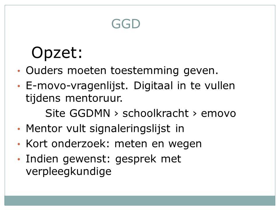 Opzet: GGD Ouders moeten toestemming geven.