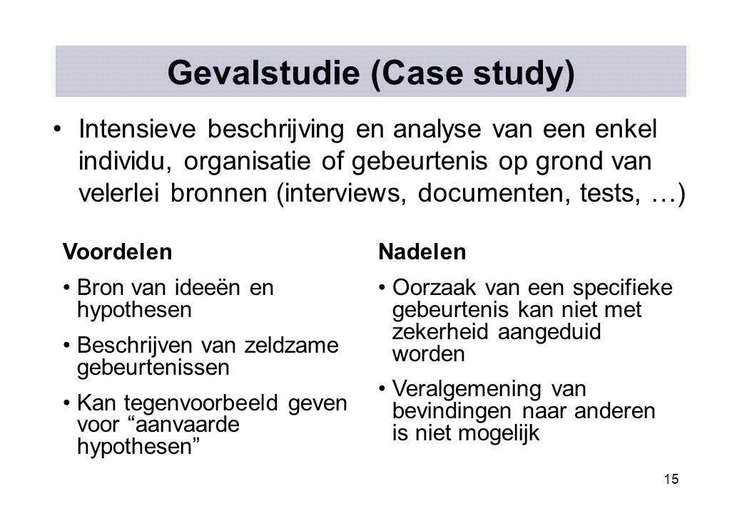 Gevalstudie (Case study)