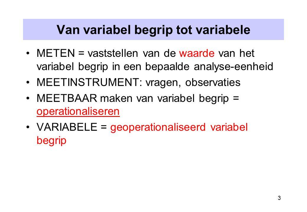 Van variabel begrip tot variabele