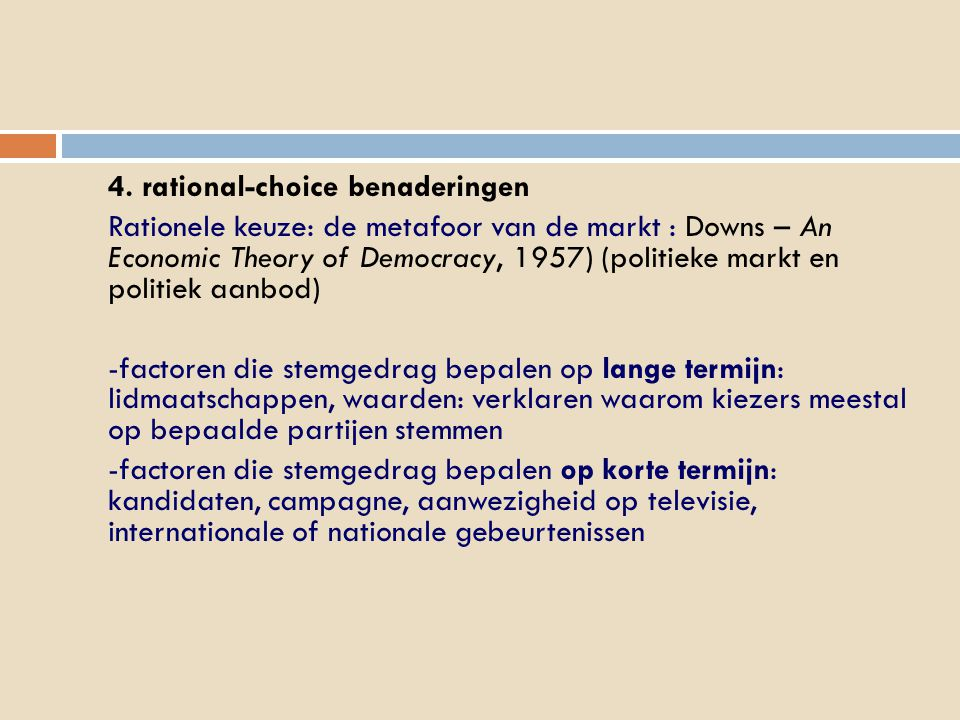 4. rational-choice benaderingen