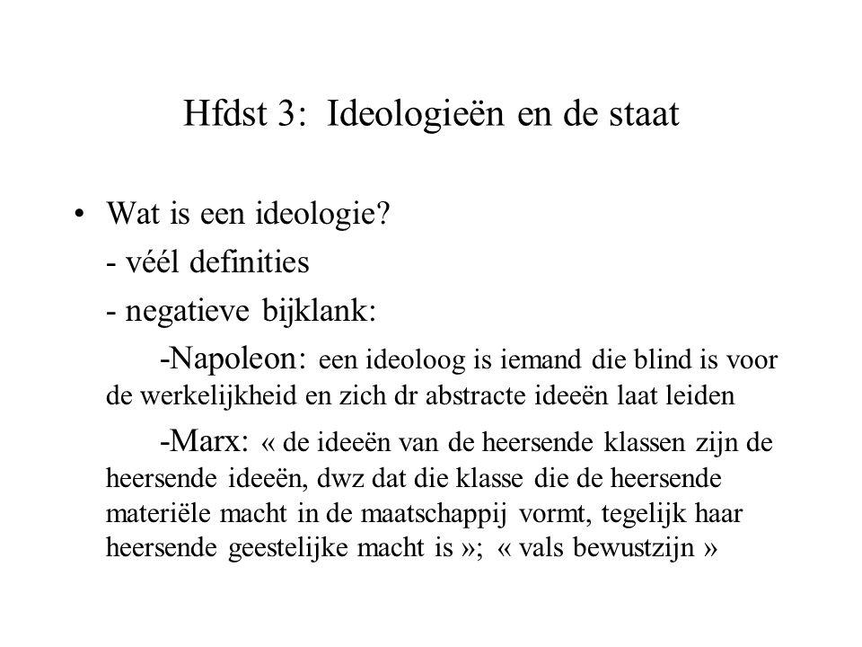 Hfdst 3: Ideologieën en de staat