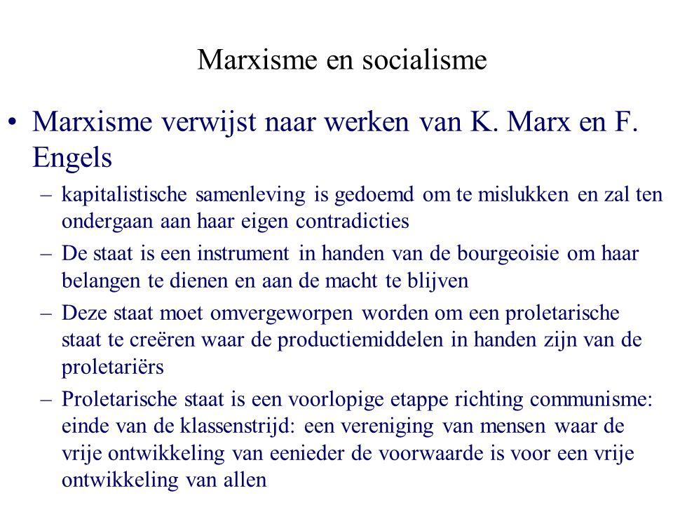 Marxisme en socialisme