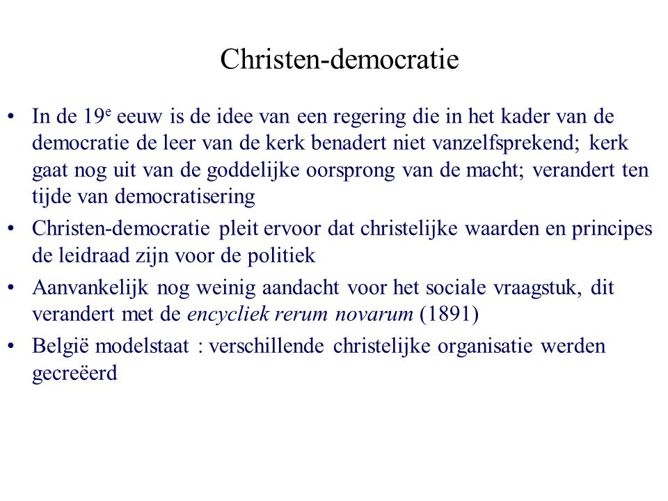 Christen-democratie