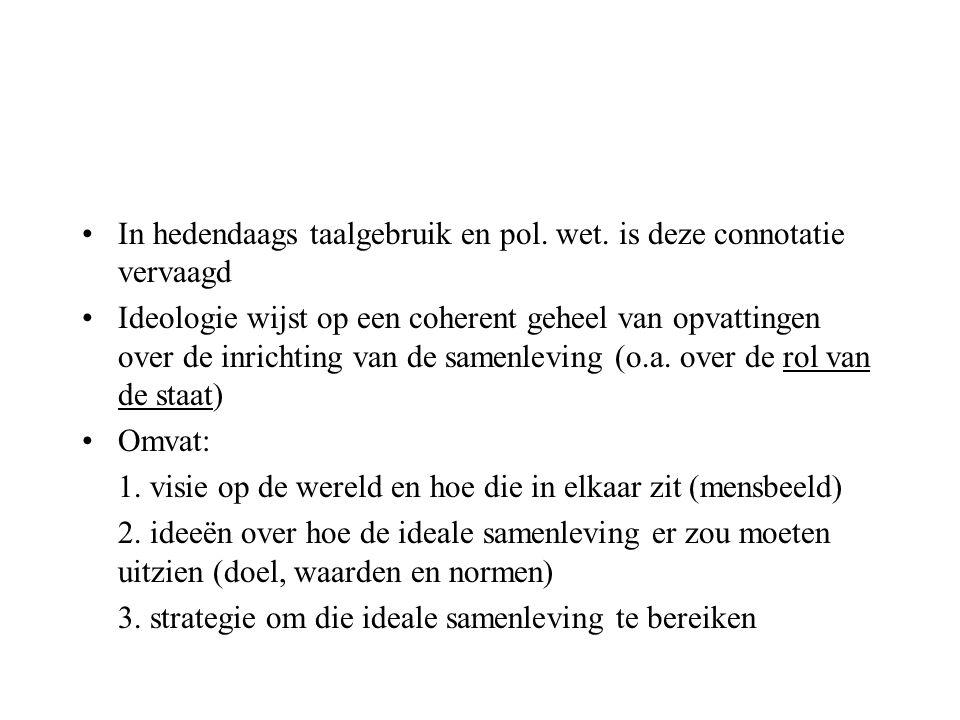 In hedendaags taalgebruik en pol. wet. is deze connotatie vervaagd
