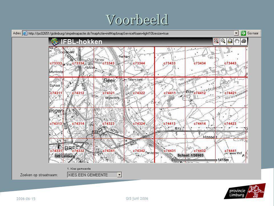 Voorbeeld 2006-06-15 GIS juni 2006
