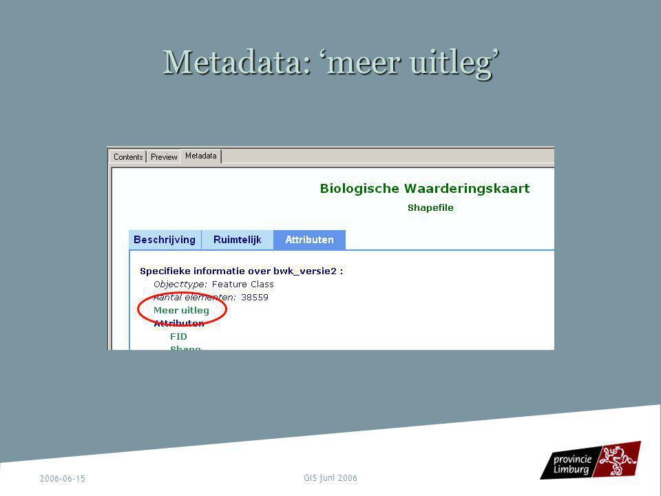 Metadata: 'meer uitleg'