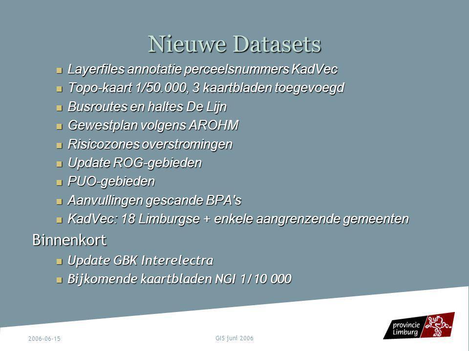 Nieuwe Datasets Binnenkort Layerfiles annotatie perceelsnummers KadVec