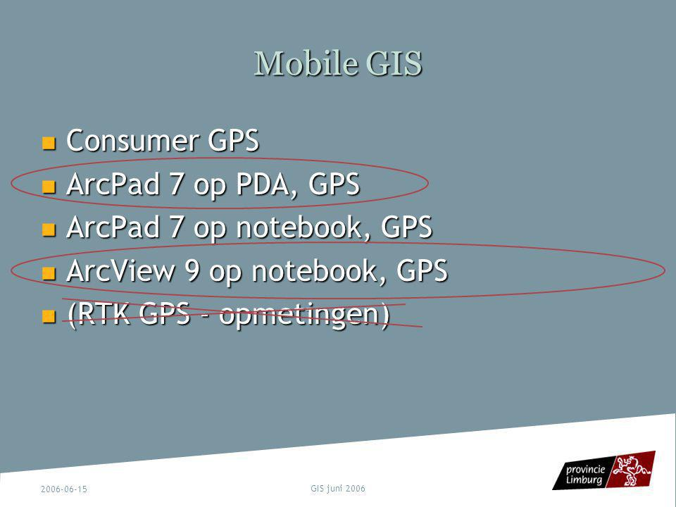 Mobile GIS Consumer GPS ArcPad 7 op PDA, GPS ArcPad 7 op notebook, GPS