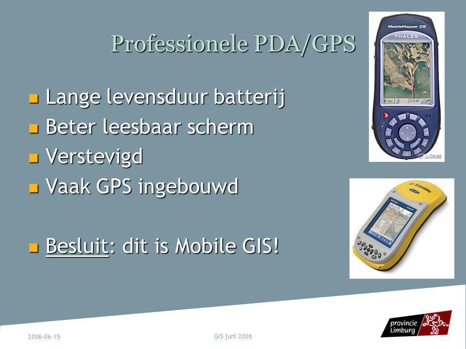 Professionele PDA/GPS