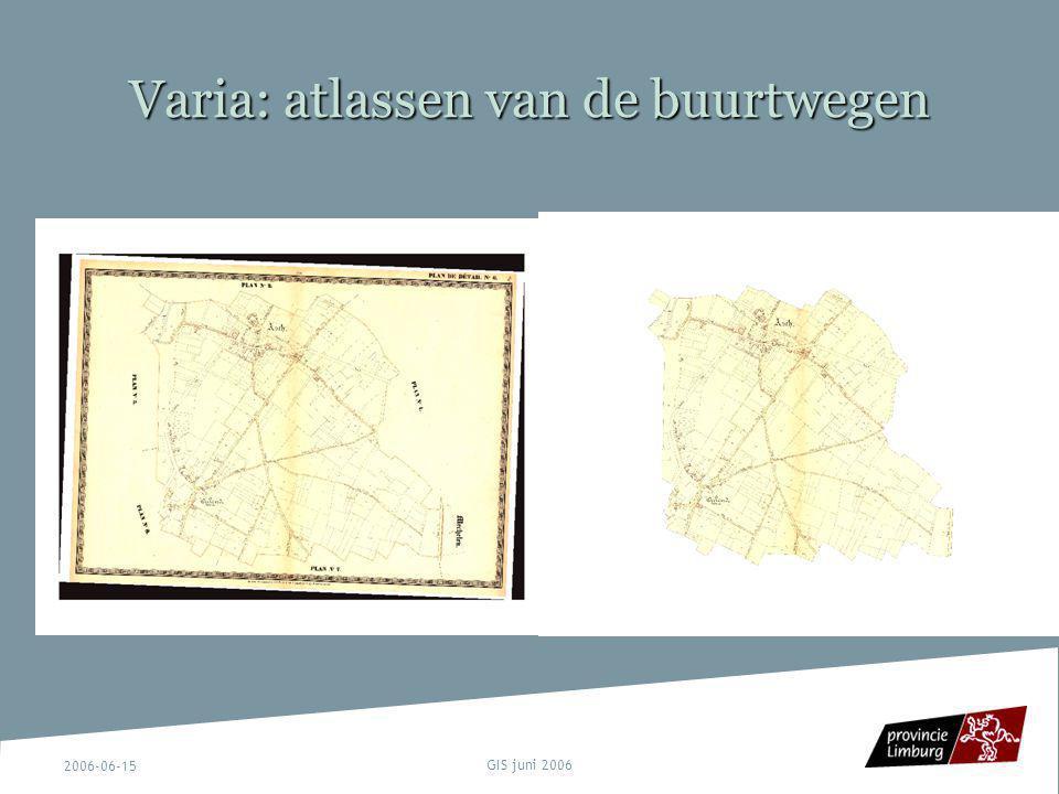 Varia: atlassen van de buurtwegen