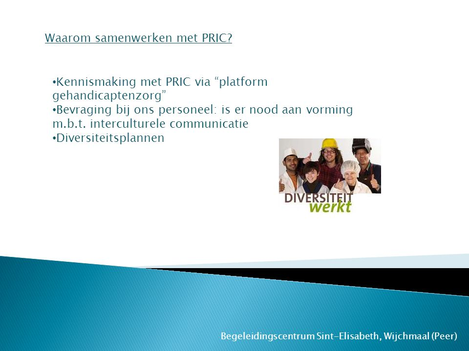 Waarom samenwerken met PRIC