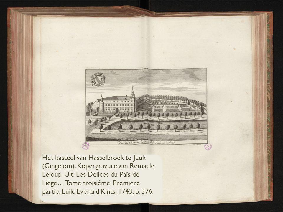 Het kasteel van Hasselbroek te Jeuk (Gingelom)