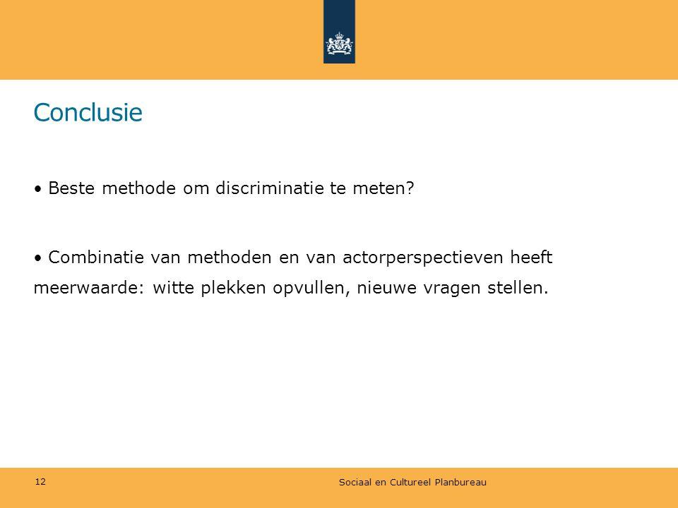 Conclusie Beste methode om discriminatie te meten