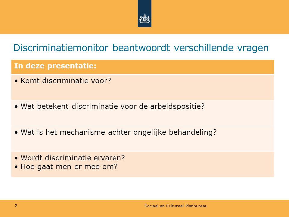 Discriminatiemonitor beantwoordt verschillende vragen