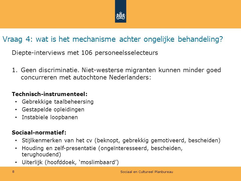 Vraag 4: wat is het mechanisme achter ongelijke behandeling