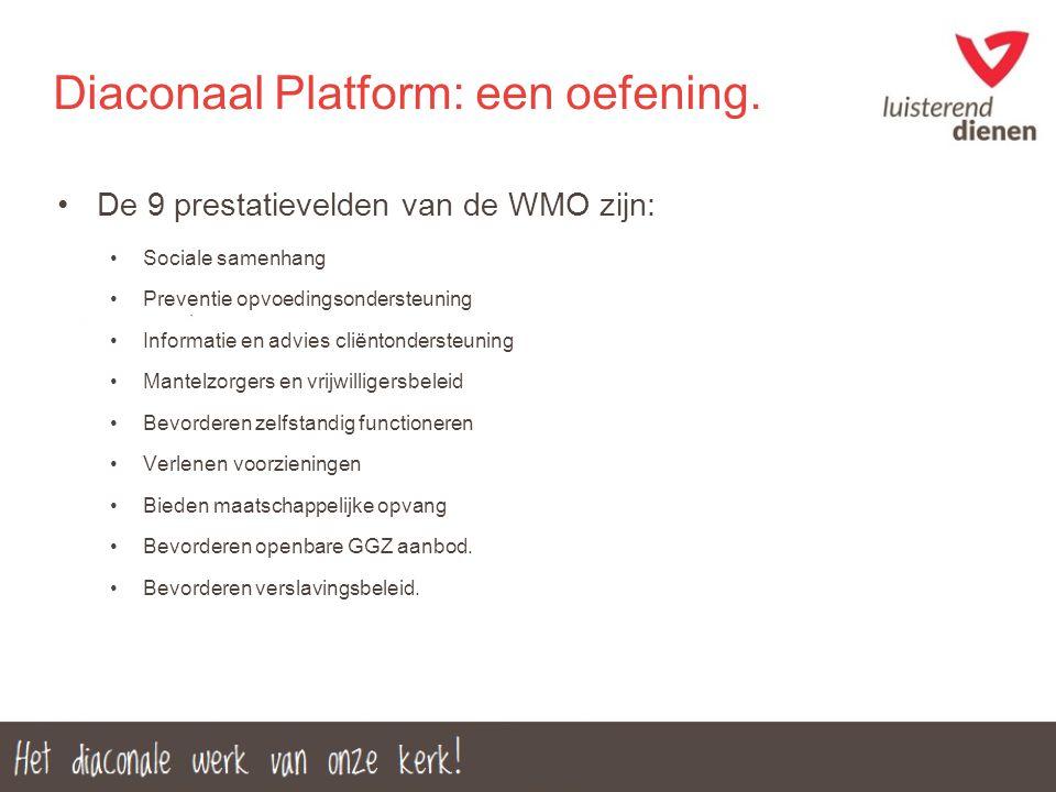 Diaconaal Platform: een oefening.