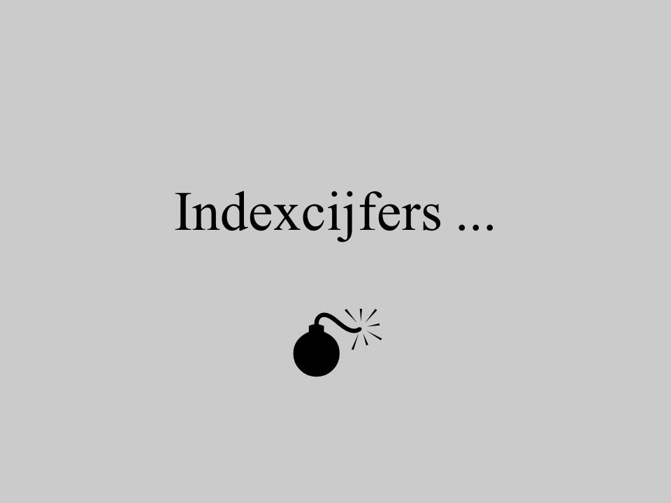 Indexcijfers ... 