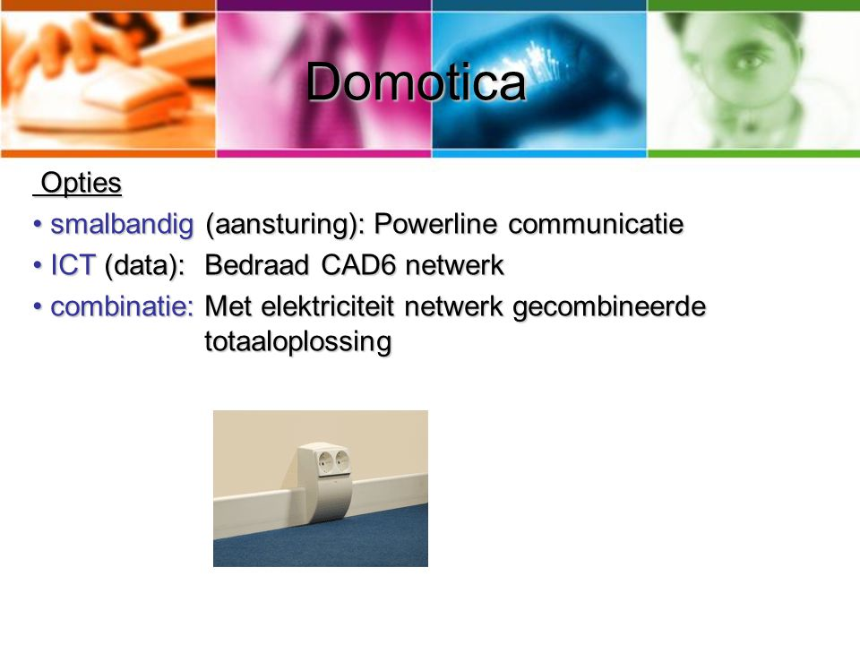 Domotica Opties smalbandig (aansturing): Powerline communicatie