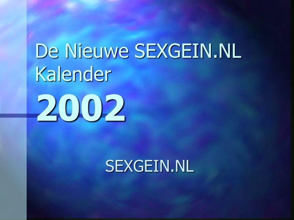 De Nieuwe SEXGEIN.NL Kalender 2002