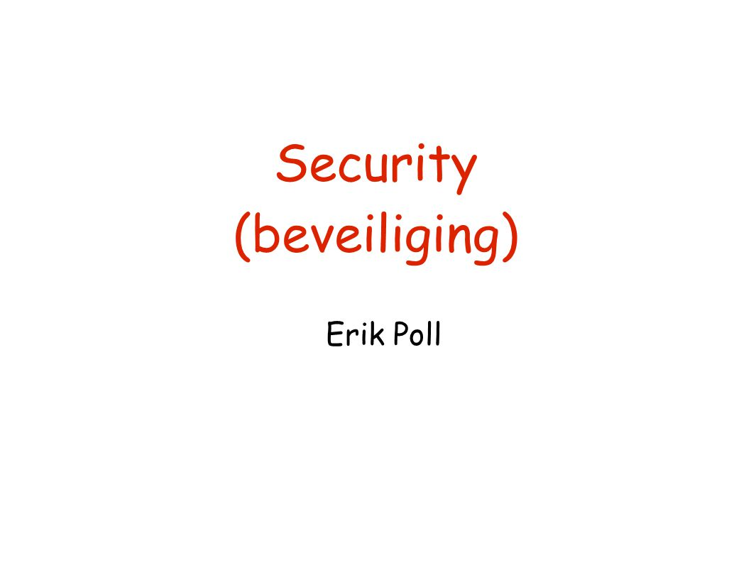 Security (beveiliging)