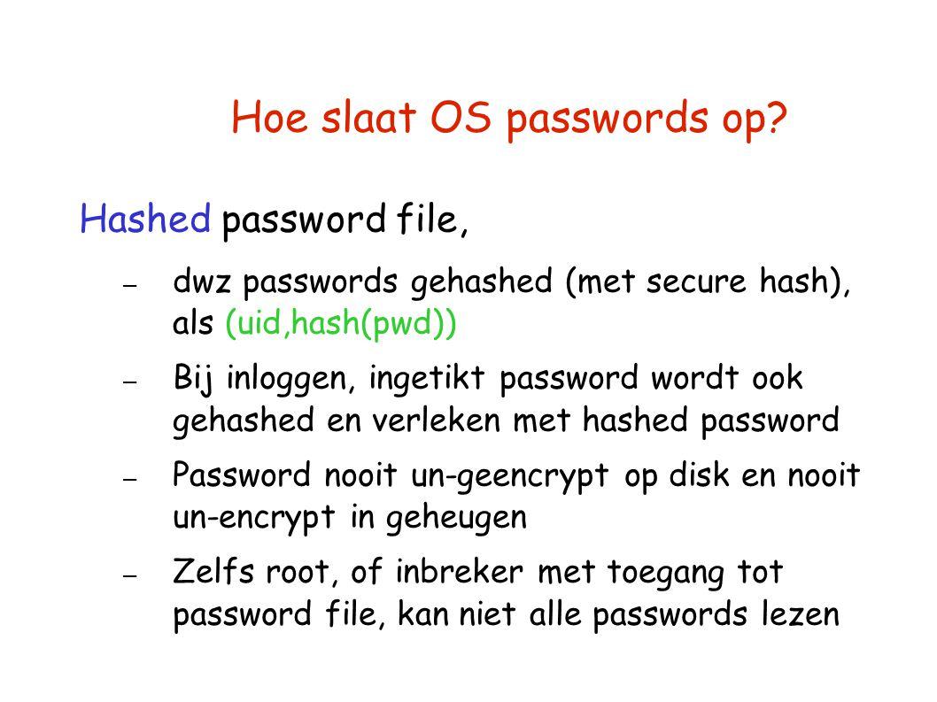 Hoe slaat OS passwords op