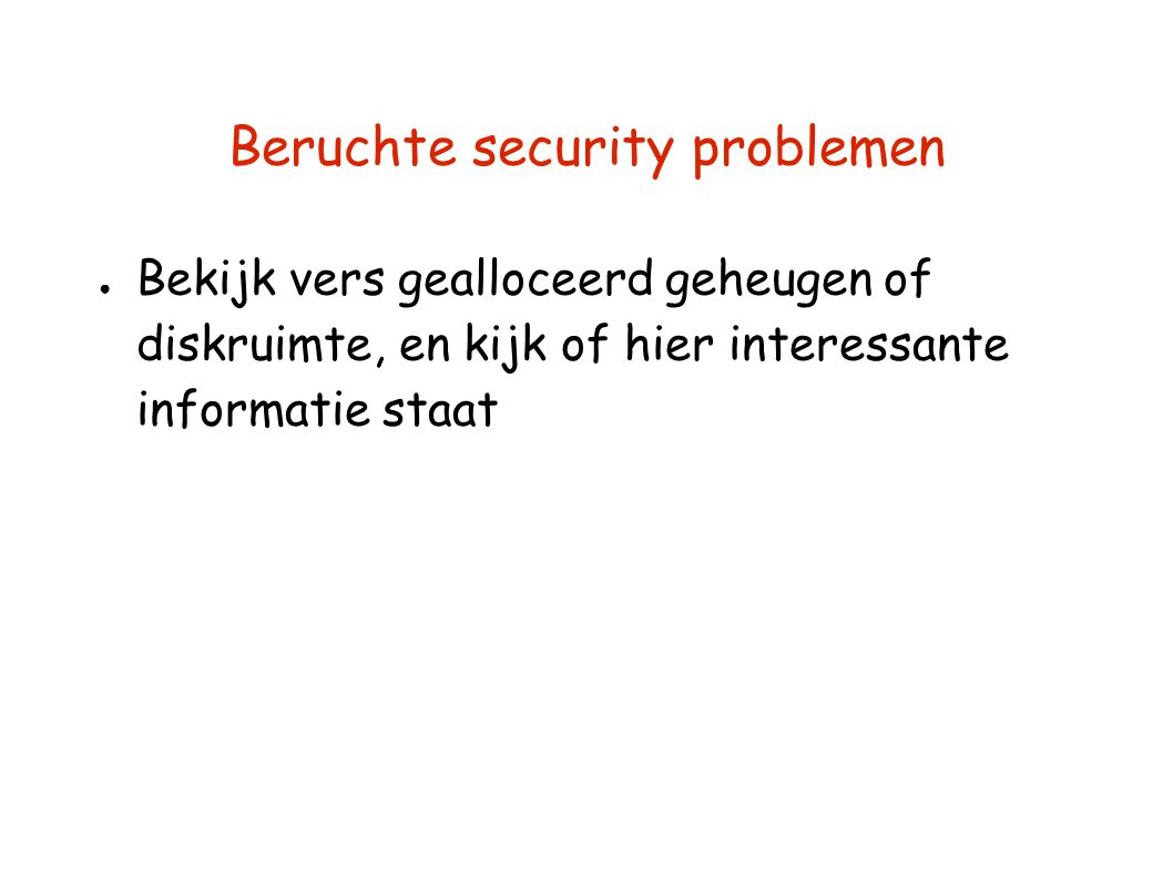 Beruchte security problemen