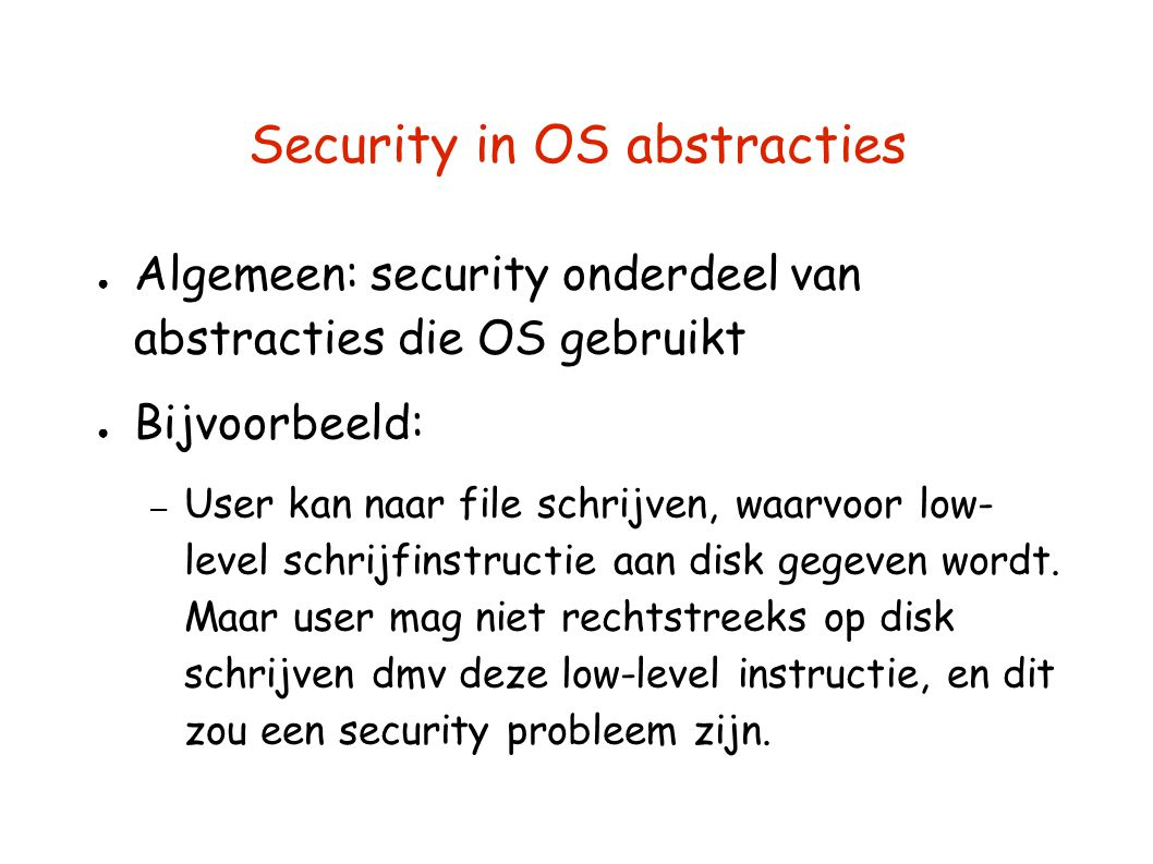 Security in OS abstracties