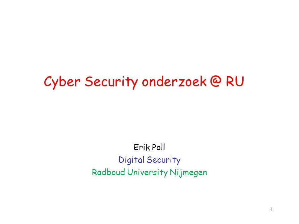 Cyber Security onderzoek @ RU