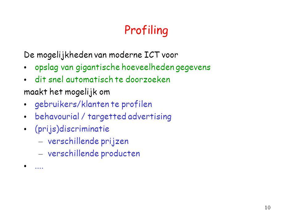 Profiling De mogelijkheden van moderne ICT voor