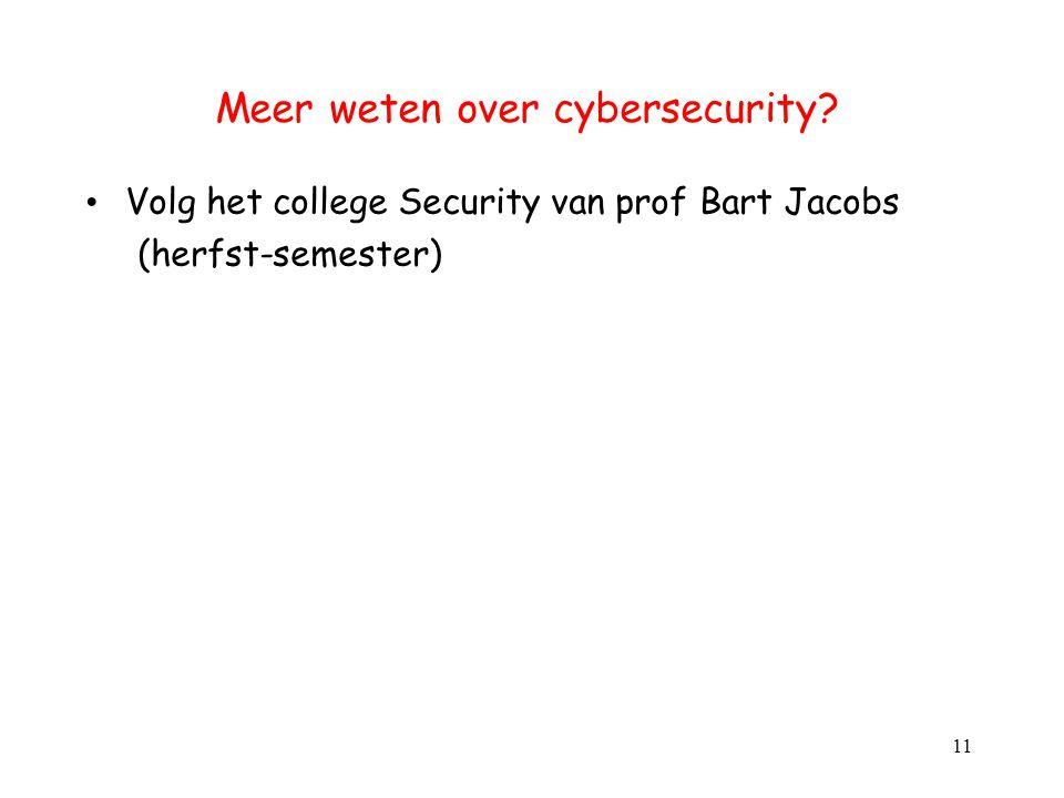 Meer weten over cybersecurity