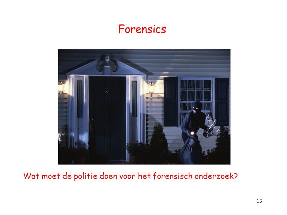 Forensics Wat moet de politie doen voor het forensisch onderzoek