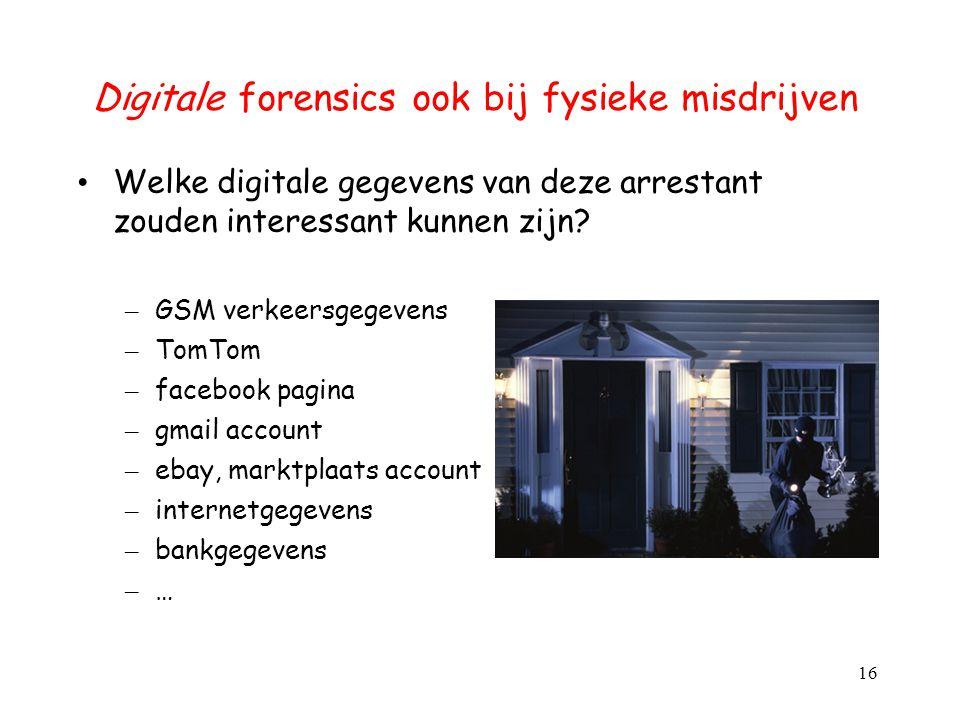 Digitale forensics ook bij fysieke misdrijven