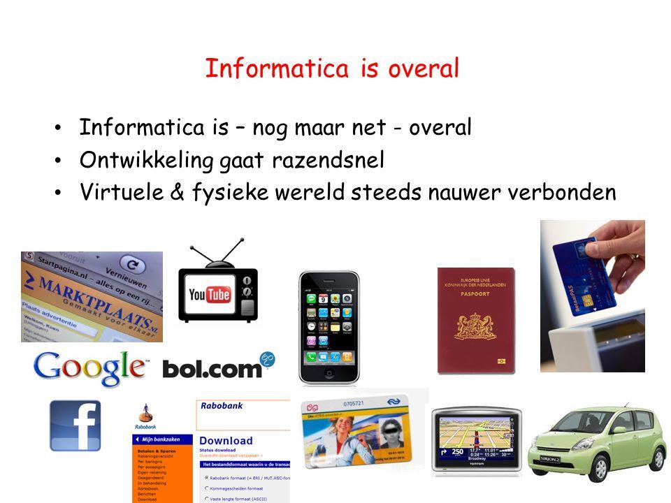 Informatica is overal Informatica is – nog maar net - overal