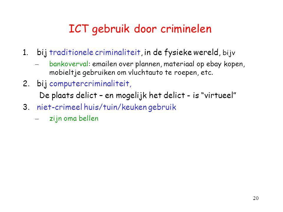 ICT gebruik door criminelen
