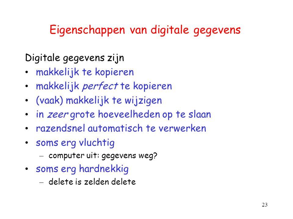 Eigenschappen van digitale gegevens