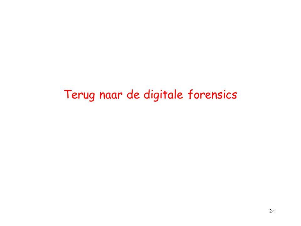 Terug naar de digitale forensics