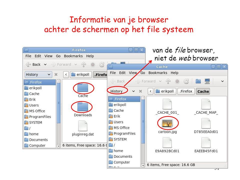 Informatie van je browser achter de schermen op het file systeem