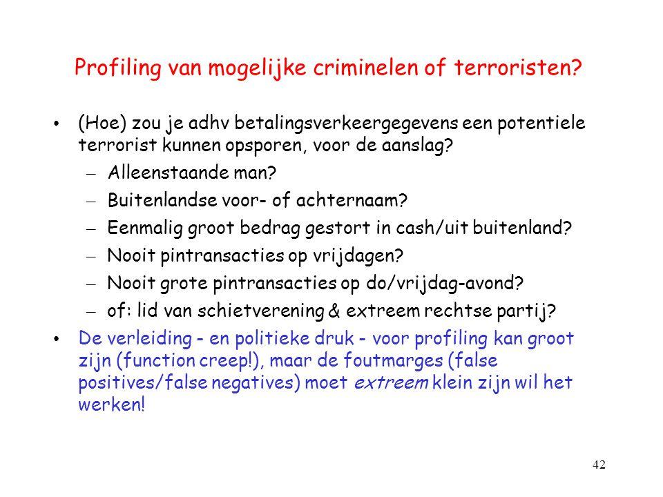 Profiling van mogelijke criminelen of terroristen